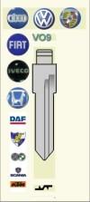 VO9 Key Blank - VW Audi Porsche Fiat Iveco Honda DAF Pegaso Steyr-Puch Scania KTM
