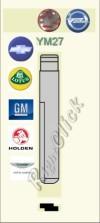 YM27 Key Blank - Opel Vauxhall Chevrolet Lotus GM Holden Aston Martin