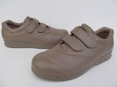 SAS Me Too Mocha Leather Velcro Comfort Walking Shoes Womens sz 9.5 M