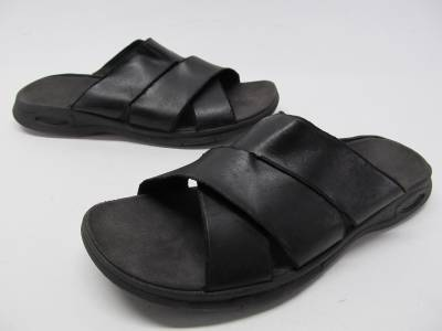 clarks privo black leather sandals slides mens sz 13 m ebay