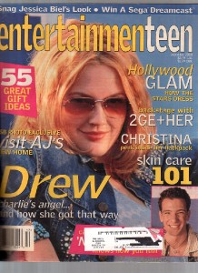 Entertainment Teen 2000 December Drew Barrymore. Issue is in good condition
