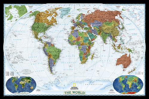 World Map Wall Poster by National Geographic Decorator