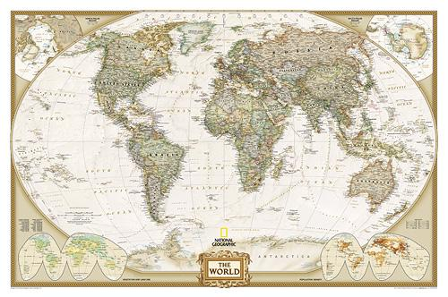 World Wall Map National Geographic Poster