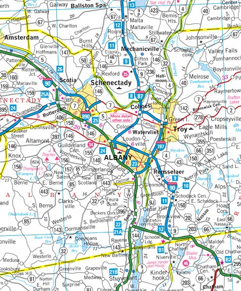 New York Highway Map Afputracom - Road map of new york state