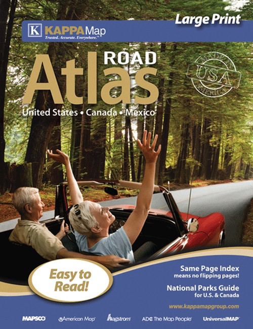 USA Large Print Road Atlas