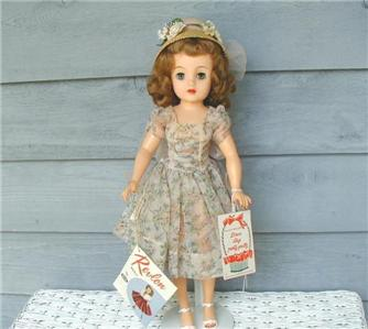 1950's Ideal MISS REVLON Doll DUPONT Dress 2 sided Wrist/Hang TAG ...