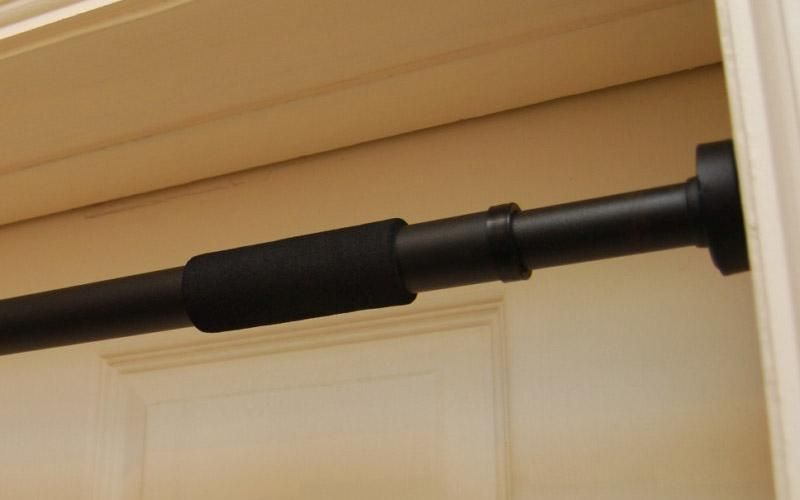 Black chin up bar abs adjustable steel portable doorway for Door frame pull up bar