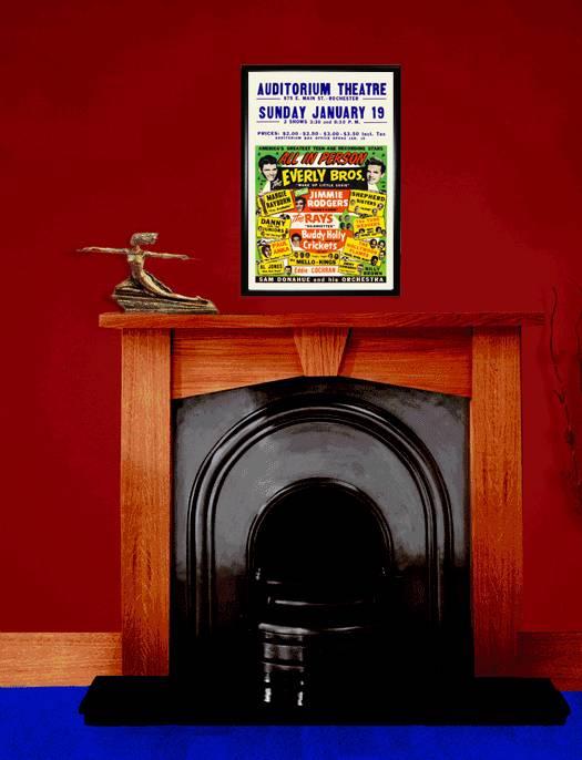 1950s Rock N Roll Concert Poster Eddie Cochran Buddy Holly ...