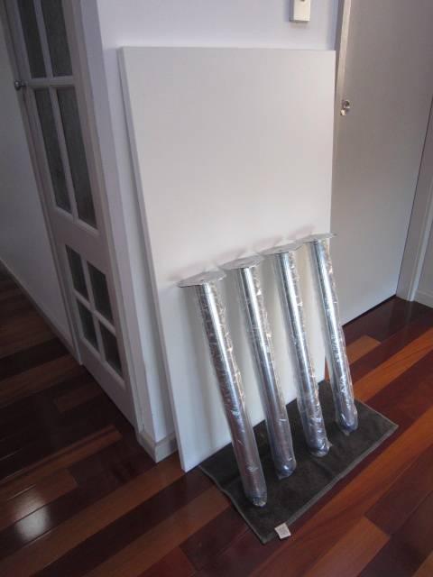 White Melamine Desk TOP 1200x700 4 Chrome Legs NEW From