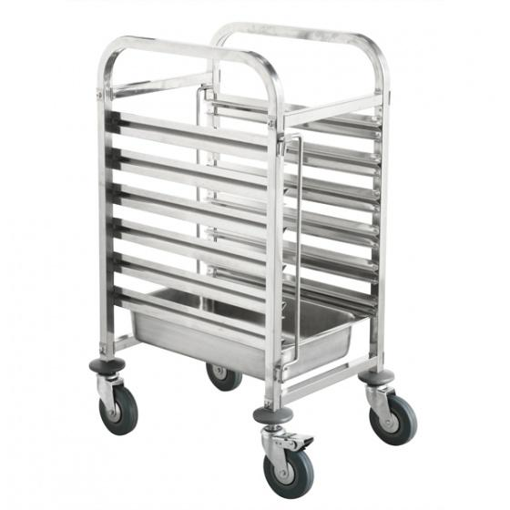 Gastronorm-Trolley-Stainless-Steel-6-Tray-Capacity