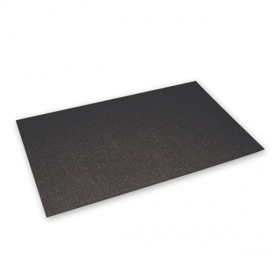Ryan Marble Stainless Steel Square Coffee Table 60cm: Non Slip Black Matting 60x100cm Waiters Trays / Bar