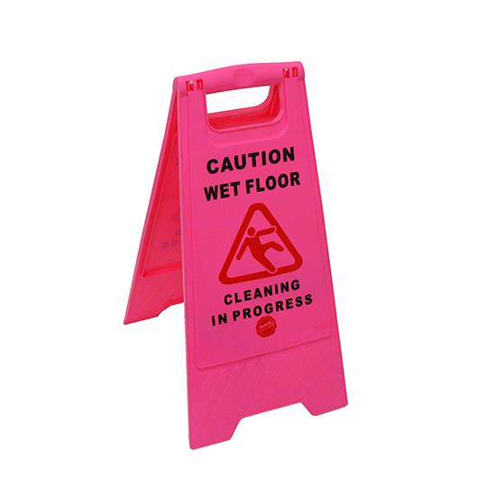 Ryan Marble Stainless Steel Square Coffee Table 60cm: Cleaning In Progress Sign, Pink, A-Frame