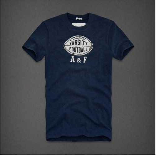 Abercrombie tee shirts men a fitch mens football logo for Abercrombie logo t shirt