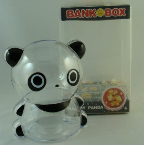 Clear plastic panda piggy banks for kids coin bank nib ebay Plastic piggy banks for kids