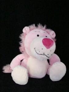 Cute pink plush lion stuffed animal Valentines Day Gift