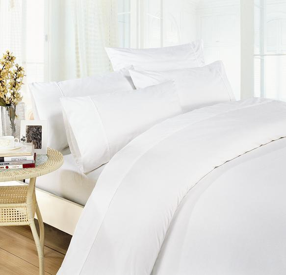 Egyptian Cotton 1500TC Queen bed sheet in pure white $95 delivered