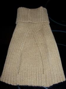Pet Dog Cat Dicki Sweater Doggiduds clothing M tan NEW