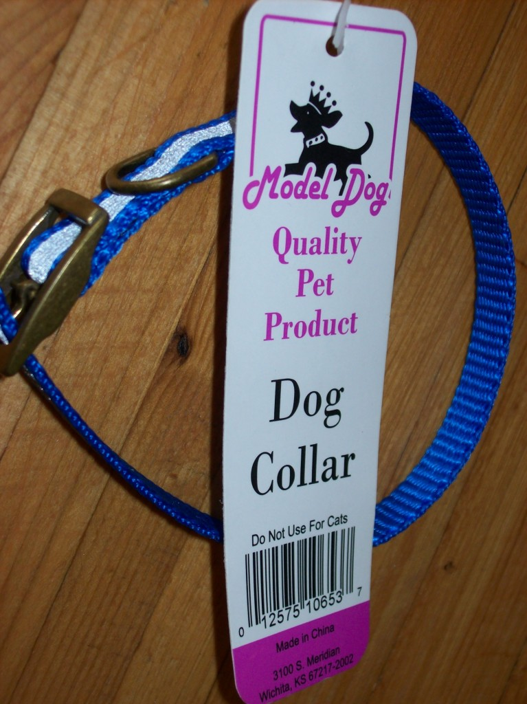 Pet Dog Collar Model nylon paw print stripe pink ~UPick