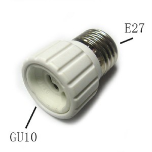 LED Halogen CFL Light Bulb GU10 to E27 Lamp Adapter New