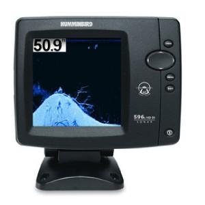 Humminbird fish depth finder 596c hd di w down imaging ebay for How to read a humminbird fish finder