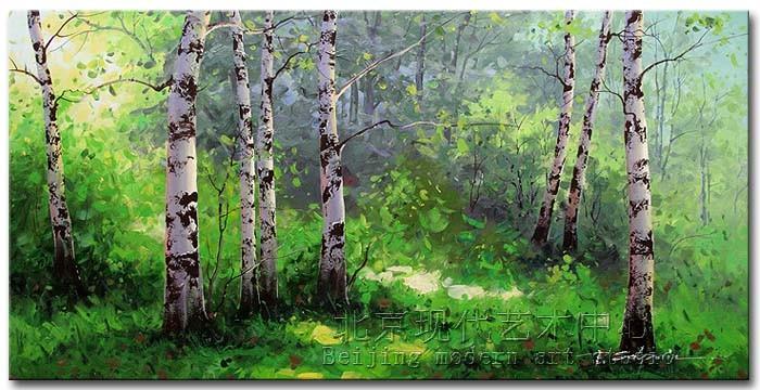 白桦树手绘图片大全