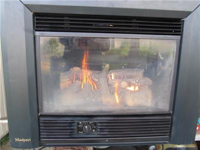 WORKING MASPORT SOFIA INBUILT LOG FIREPLACE NATURAL GAS HEATER EBay