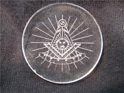 20 LASER ENGRAVED CLEAR PAST MASTER MASONIC TOKENS