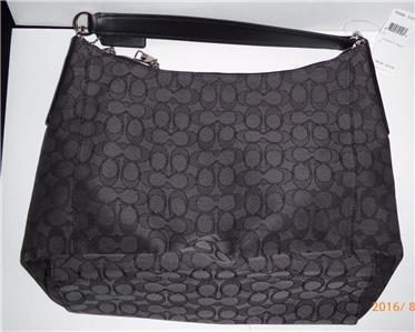 black coach purse outlet  front black