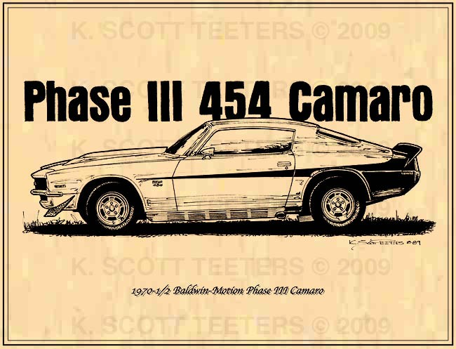 Musclecar Print 1970 5 Baldwin Motion Phase Iii Camaro Ebay