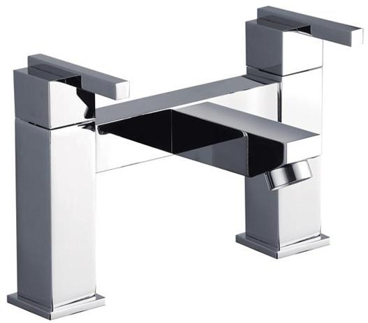Square design bath mixer tap from the Grand Taps SD range of bathroom taps