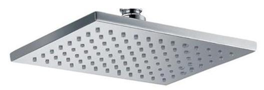 chrome square rain shower head