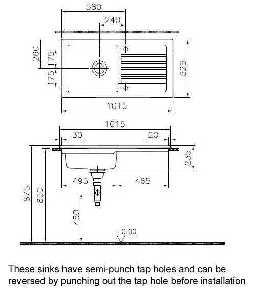 REGINOX SINK AND TAP SET. Reginox White Ceramic Kitchen Sink 1 0 Bowl And Chrome Tap Set