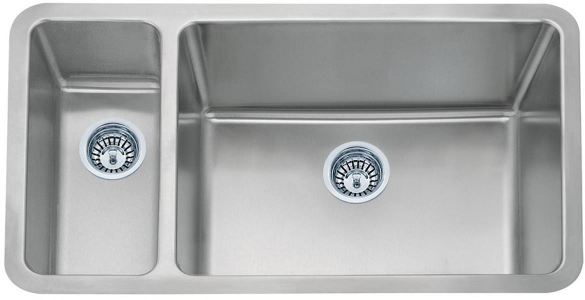 Large Kitchen Sinks Undermount : Stainless Steel Undermount Kitchen Sink (D02R) 1.5 bowl - GrandTaps UK