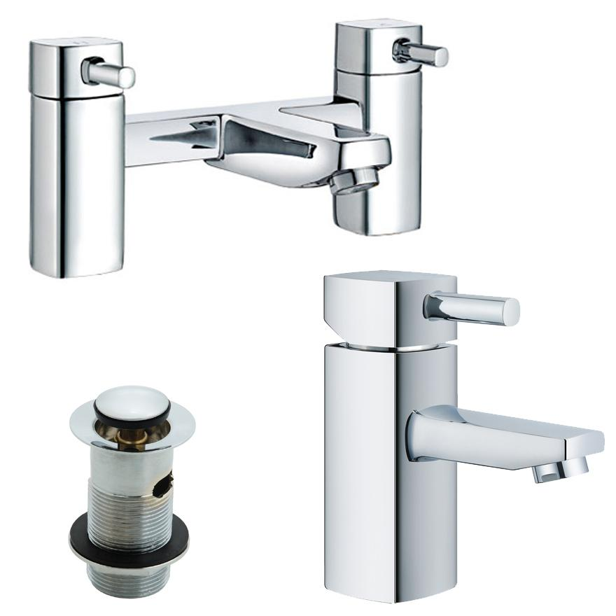 Bathroom bath and basin tap packs
