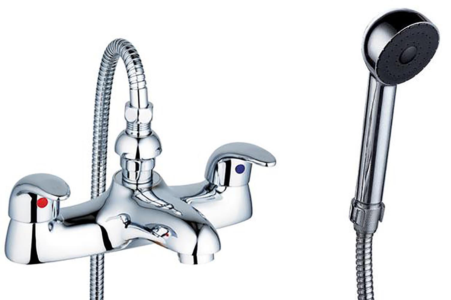 style 2 quarter turn levers chrome bathroom bath shower mixer taps aero 4 ebay