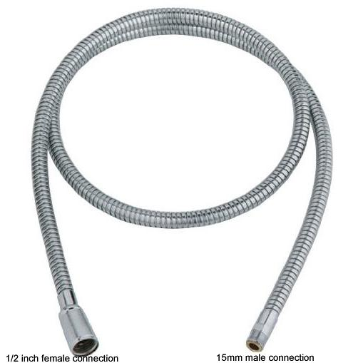 stainless steel pull out tap hose