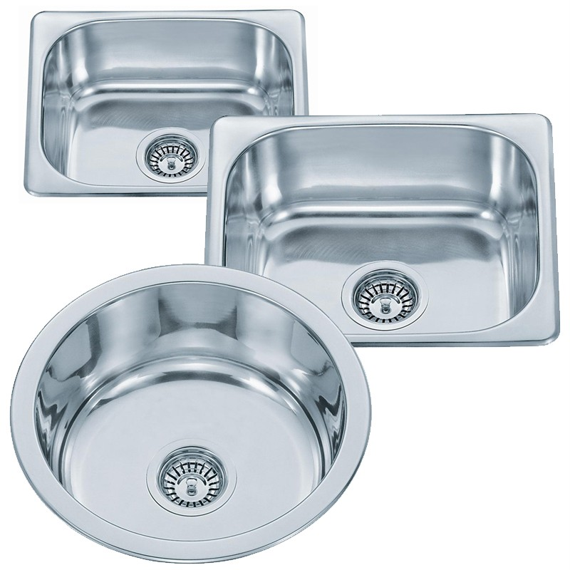Small Top Mount Inset Stainless Steel Kitchen Sinks Ebay