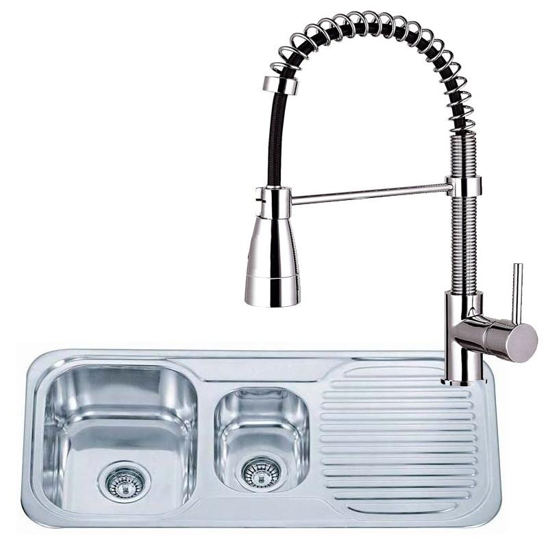 ... Stainless Steel Inset Kitchen Sink & Chrome Mixer Taps (KST073) eBay