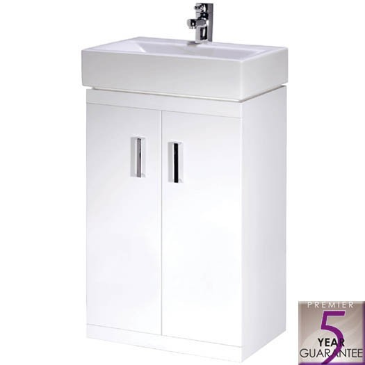 high gloss white 450mm bathroom cabinet unit ceramic basin sink set