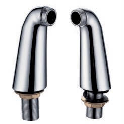Pair Of 140mm Tall Chrome Elbow Pillar Adapter Legs For A Bath Mixer Tap