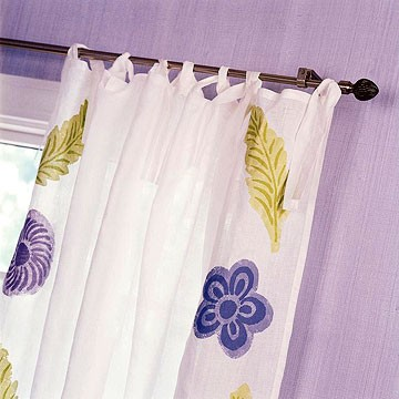 Decorated Curtain & Rod