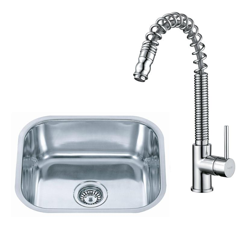 Small Stainless Steel Undermount Kitchen Sink & Pull Out