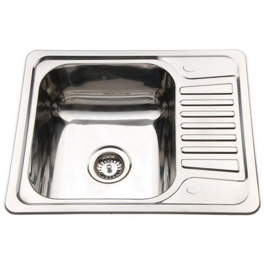 Small Top Mount Inset Stainless Steel Kitchen Sinks With Fittings - Small sink kitchen