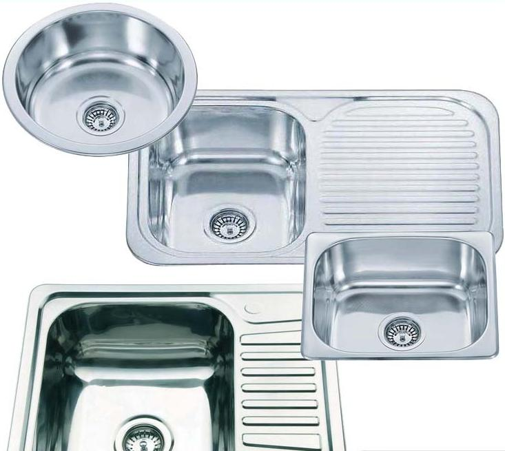 Chioce of smallest round or square stainless steel inset - Round stainless steel kitchen sink ...