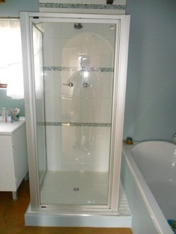 This photo shows the shower after renovation