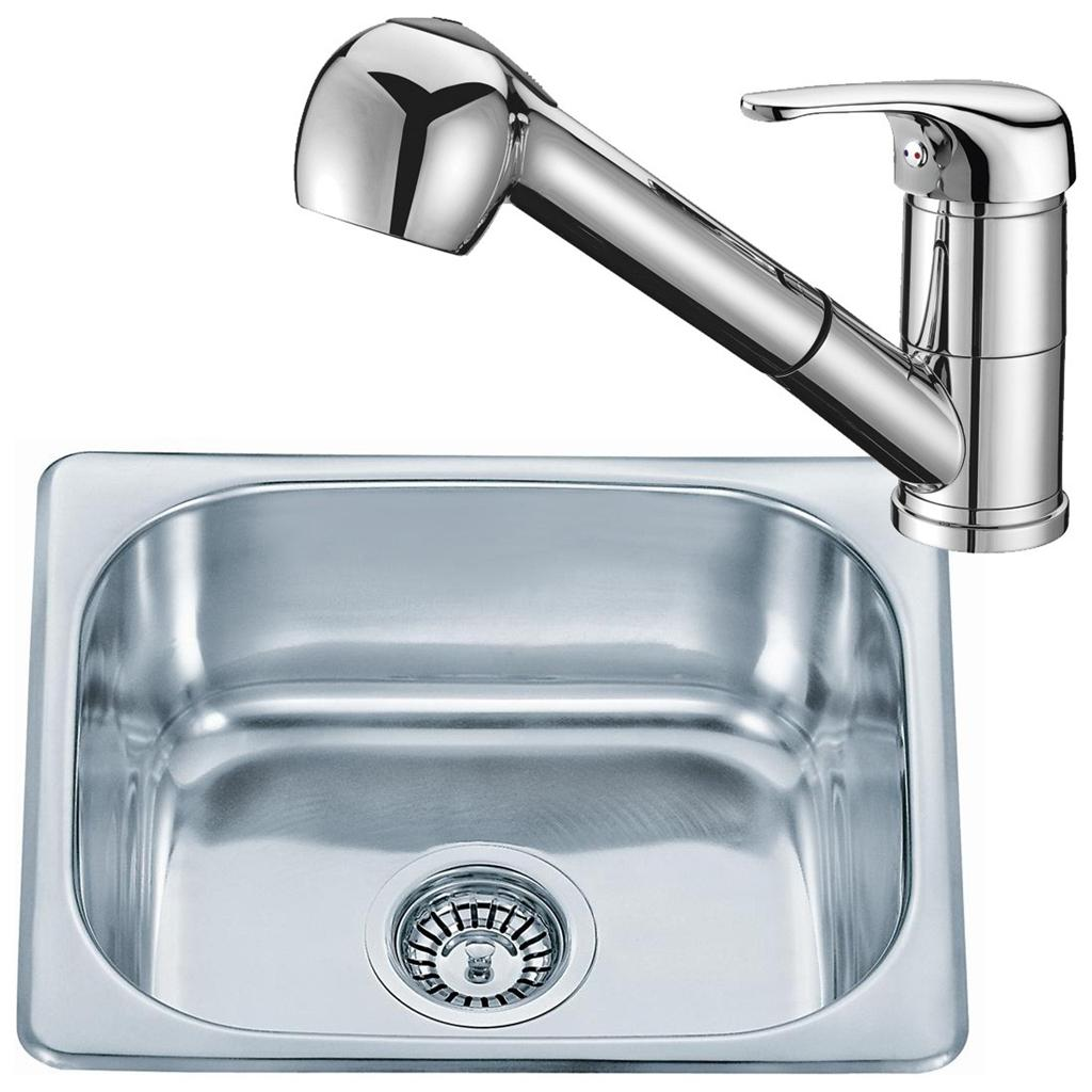 Small Stainless Sink : Details about Small Stainless Steel Inset Kitchen Sink Bowl & Pull Out ...