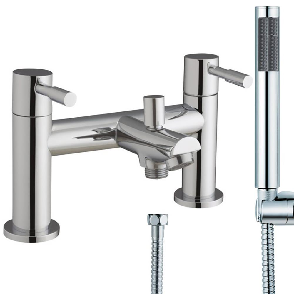 Chrome bathroom bath shower tap and monobloc basin mixer for Bathroom taps