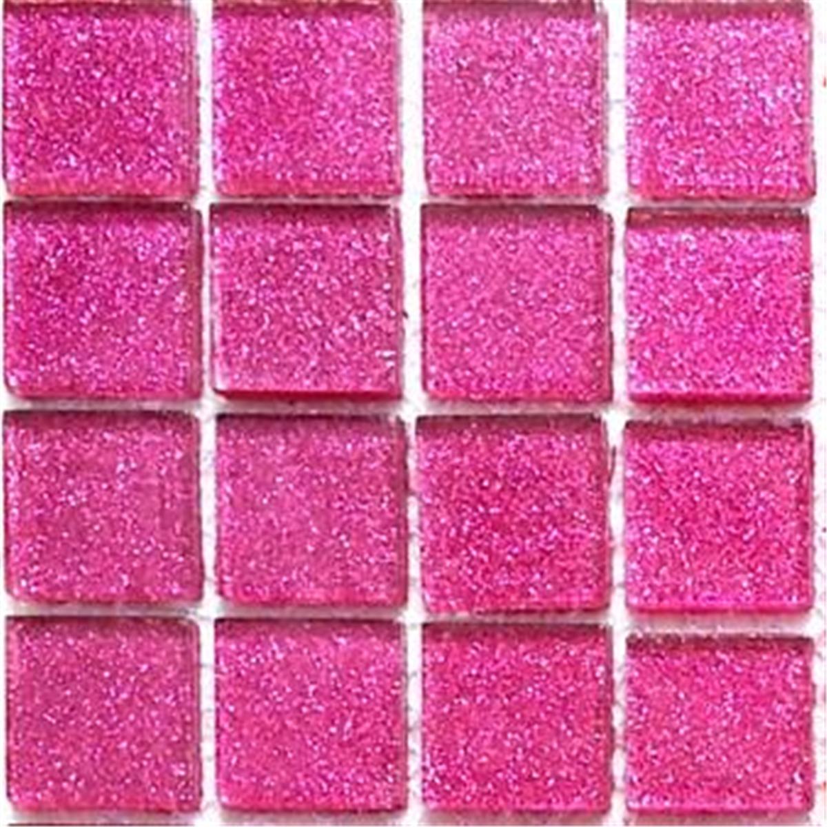 mosaic tiles glass glitter pink bathroom kitchen walls