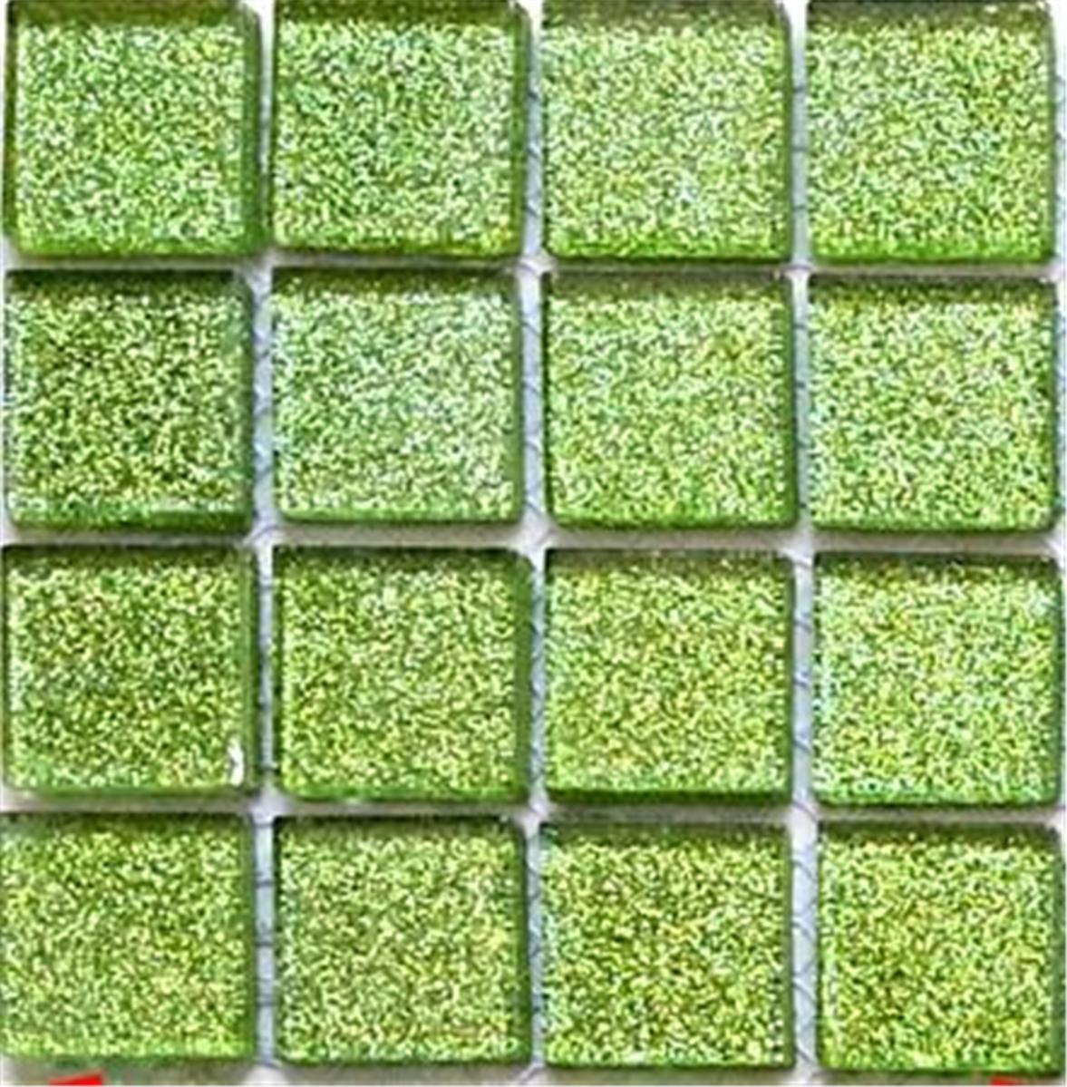 Sample glitter green glass feature walls borders