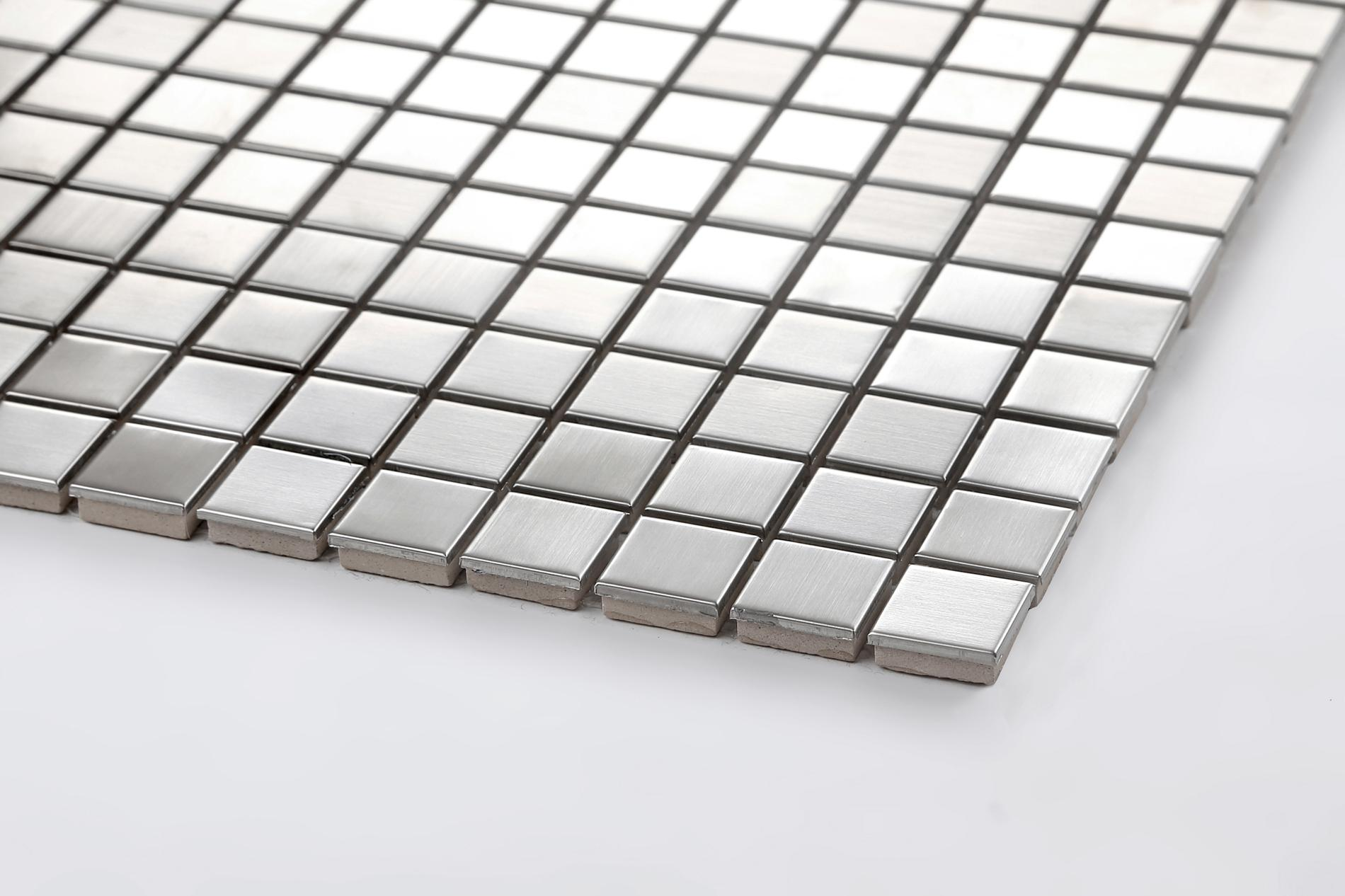 Stainless steel mosaic tiles sheets bathroom kitchen for Stainless steel sheets for kitchens
